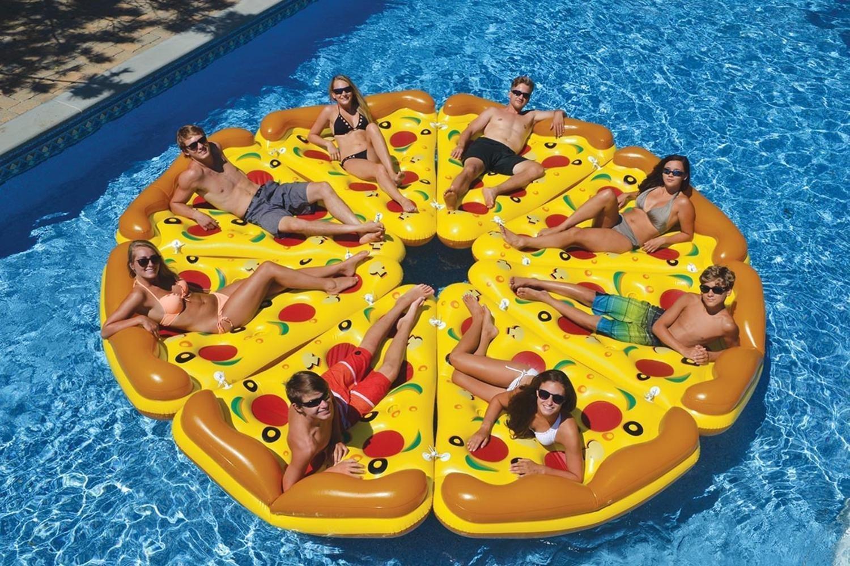 Надувной матрас для плавания Пицца
