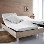Простыня натяжная из биохлопка для двуспальной кровати с раздельными матрасами