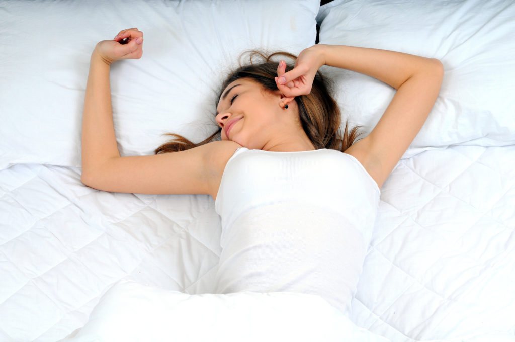 фото Потягивание в Кровати