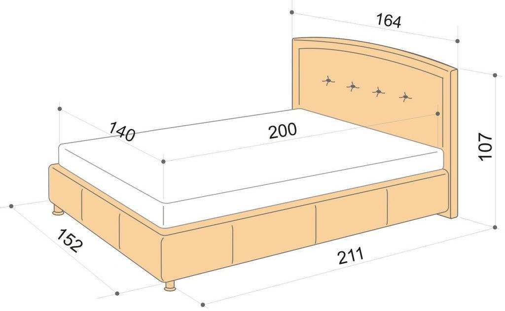 размер кровати фото