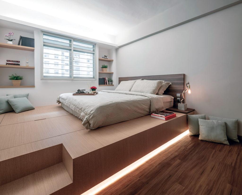 Кровать на подиуме в интерьере фото
