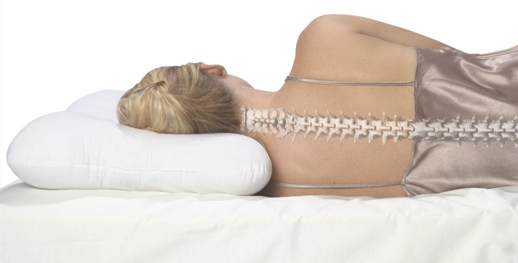 поддержка позвоночника спящего в правильном (анатомическом) положении