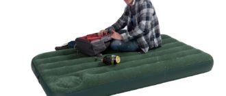 Надувной матрас со встроенным насосом