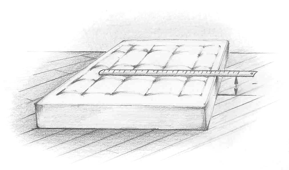 Высота матраса для кровати