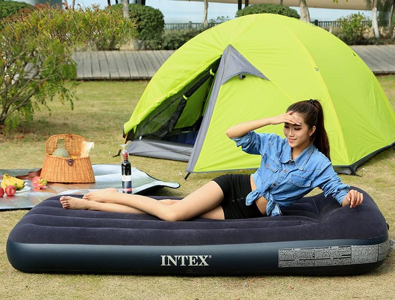 Кровать надувная полутороспальная Intex