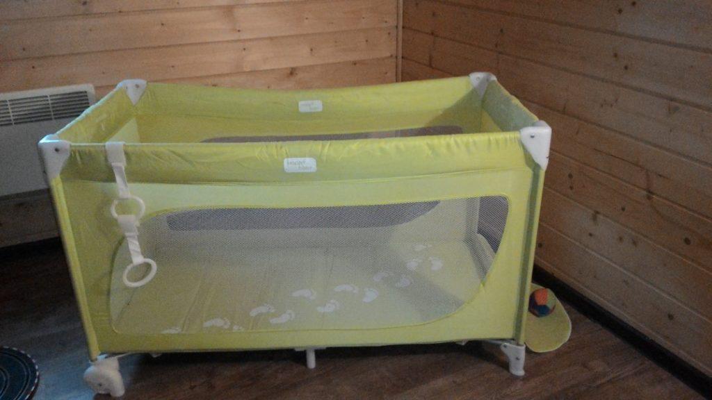 Кровать манеж зеленая