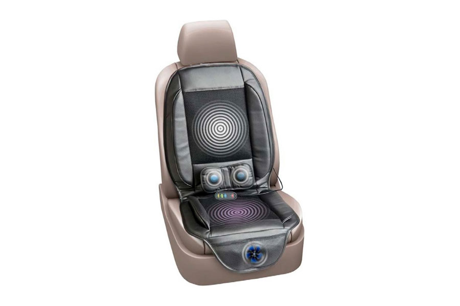 Массажная накидка на автомобильное сидение вибрационная