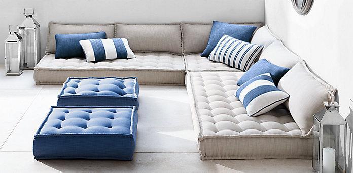 Напольные подушки из элитной коллекции Tufted French