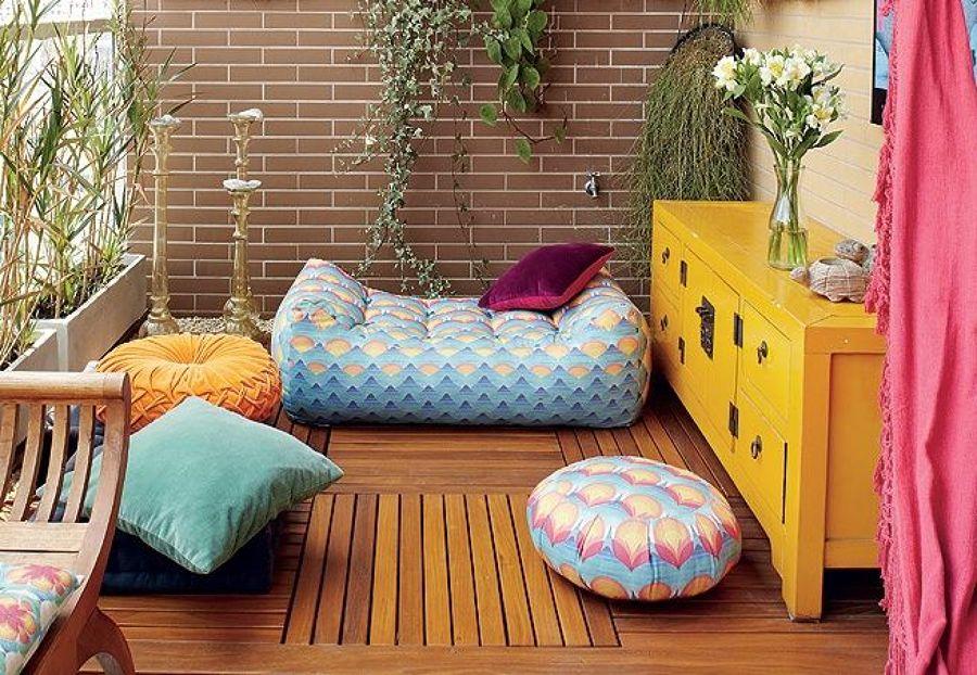 классические подушки на пол