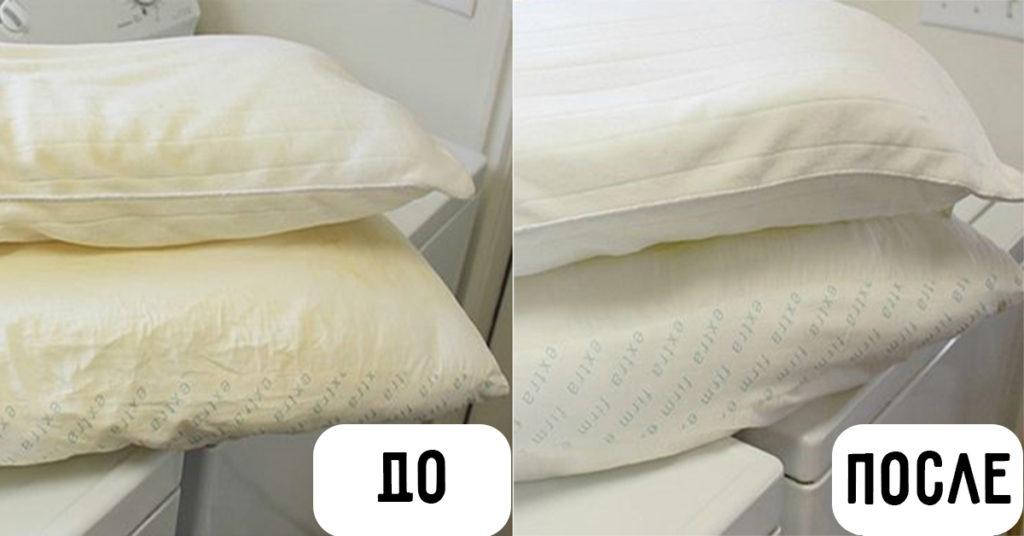 Как почистить подушку