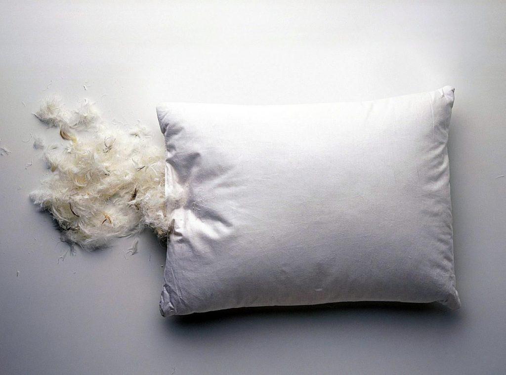 Фото подушки перьевой