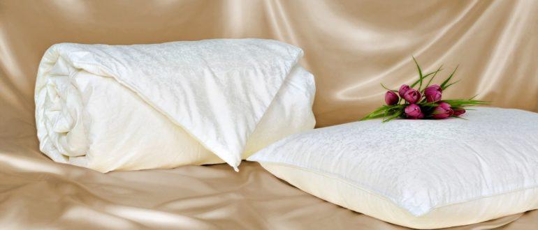 Шелковое волокно в подушках и одеялах